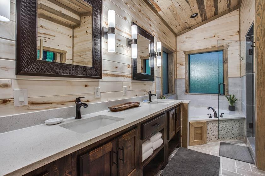 Rustic Hollow Cabin | Master Bathroom #2