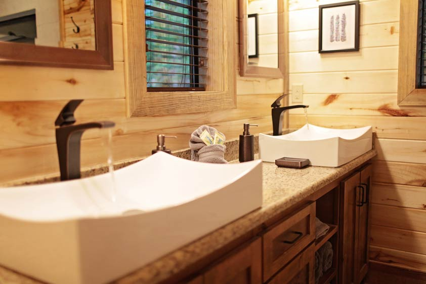 Rustic Retreat | Master Bathroom #1
