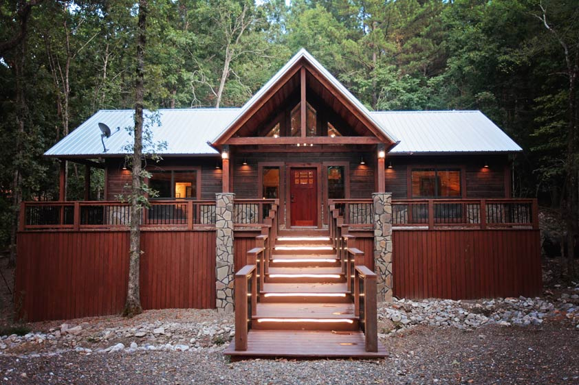 Rustic Retreat | Entrance to Rustic Retreat Cabin