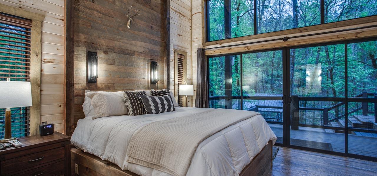 Rustic Hollow Cabin | King Bedroom Master Suite #2
