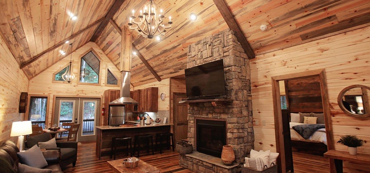Rustic Retreat | Living Room & Kitchen