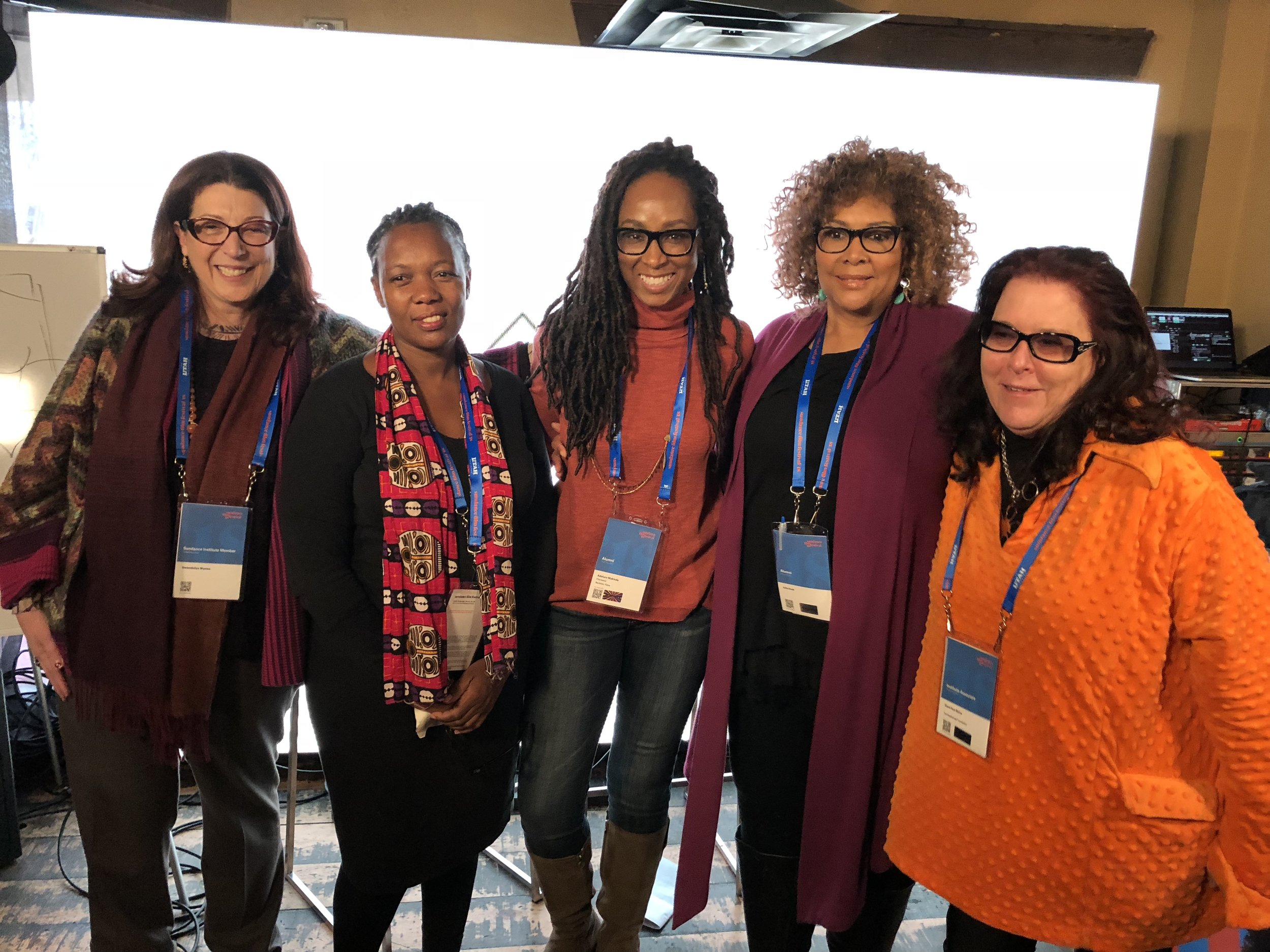 Sundance 2018 - Women In Charge: Through a New Lens |Eos World Fund launches at Blackhouse FoundationL to R: Gwen Wynne, Bridget Pickering, Adetoro Makinde, Julie Dash, Carol ShineTHE BLACKHOUSE FOUNDATIONHosts the Launch of EOS WORLD FUNDJanuary 19, 2018 from 11am - 1pm