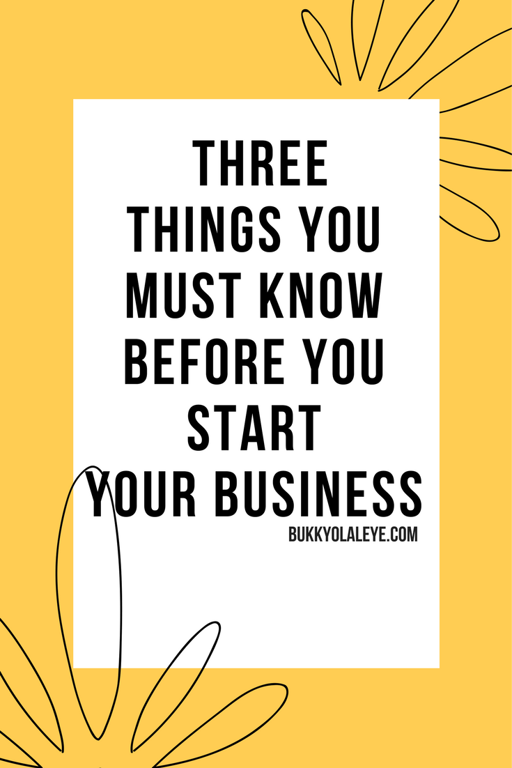 three things before you start in business