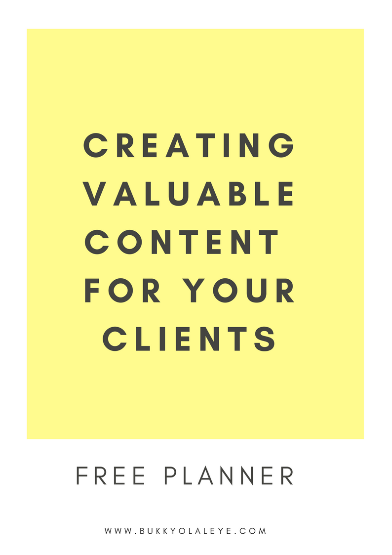 Use this handy template to create great content for your clients -