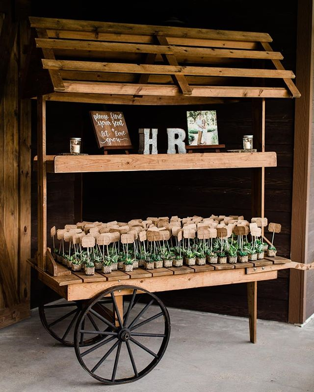 This little wagon was apart of Hannah's parent's wedding day, and I love how they incorporated it as an adorable place for their guests to grab their super cute succulent wedding favors that doubled as table numbers (always a favorite of mine 🌿)! You can see more from Hannah and Robby's wedding on the blog! ❤️ #kristinarossphotography