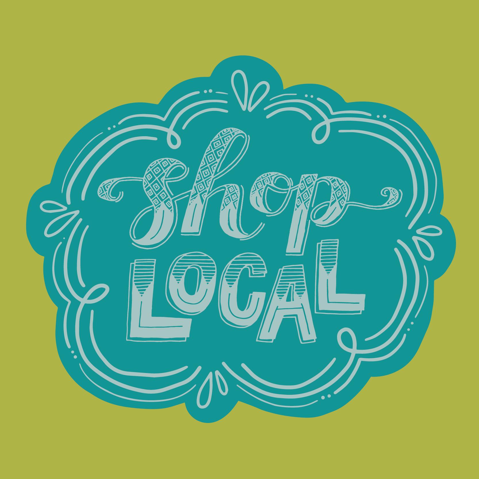 Shop Local Peoria Logo Design