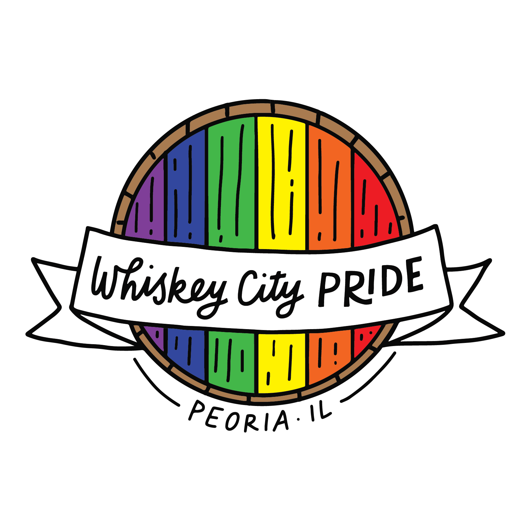 Whiskey City Pride Event Logo Design for Peoria Proud