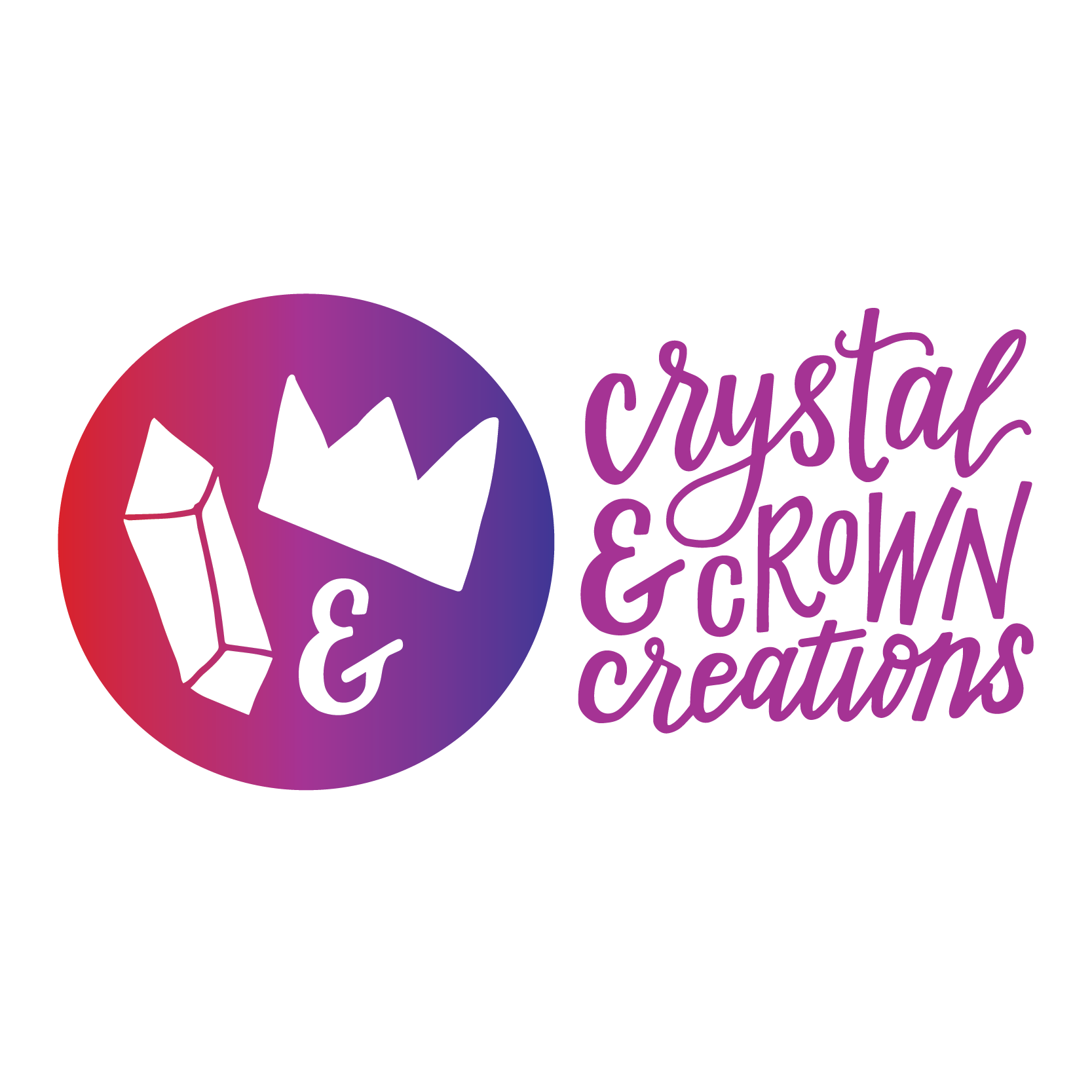 Crystal & Crown Creations Logo Design