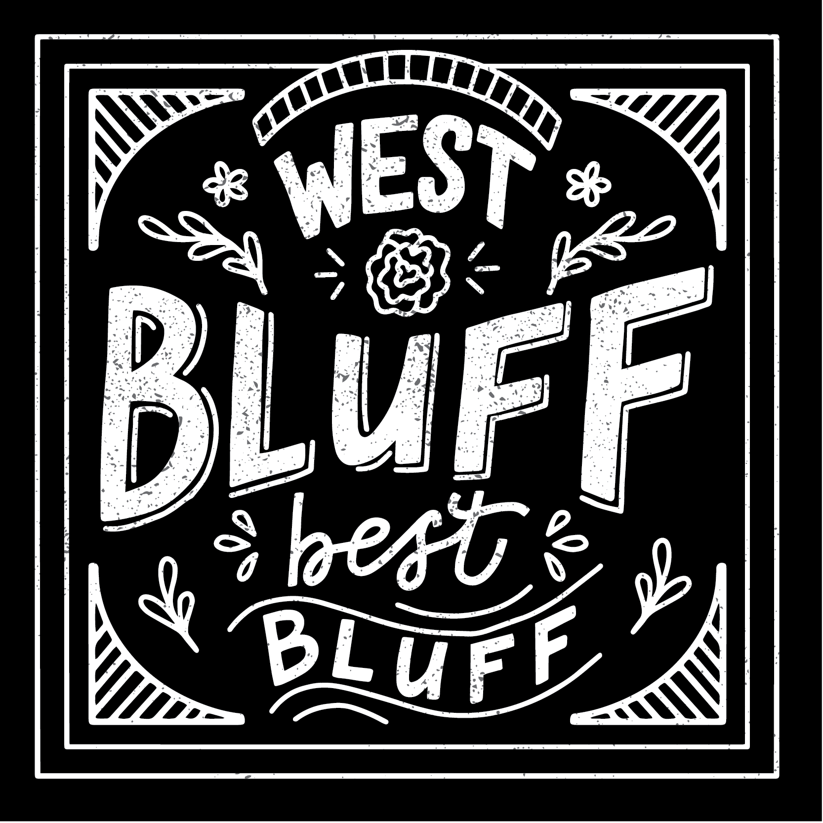 West Bluff Best Bluff Neighborhood Branding Design