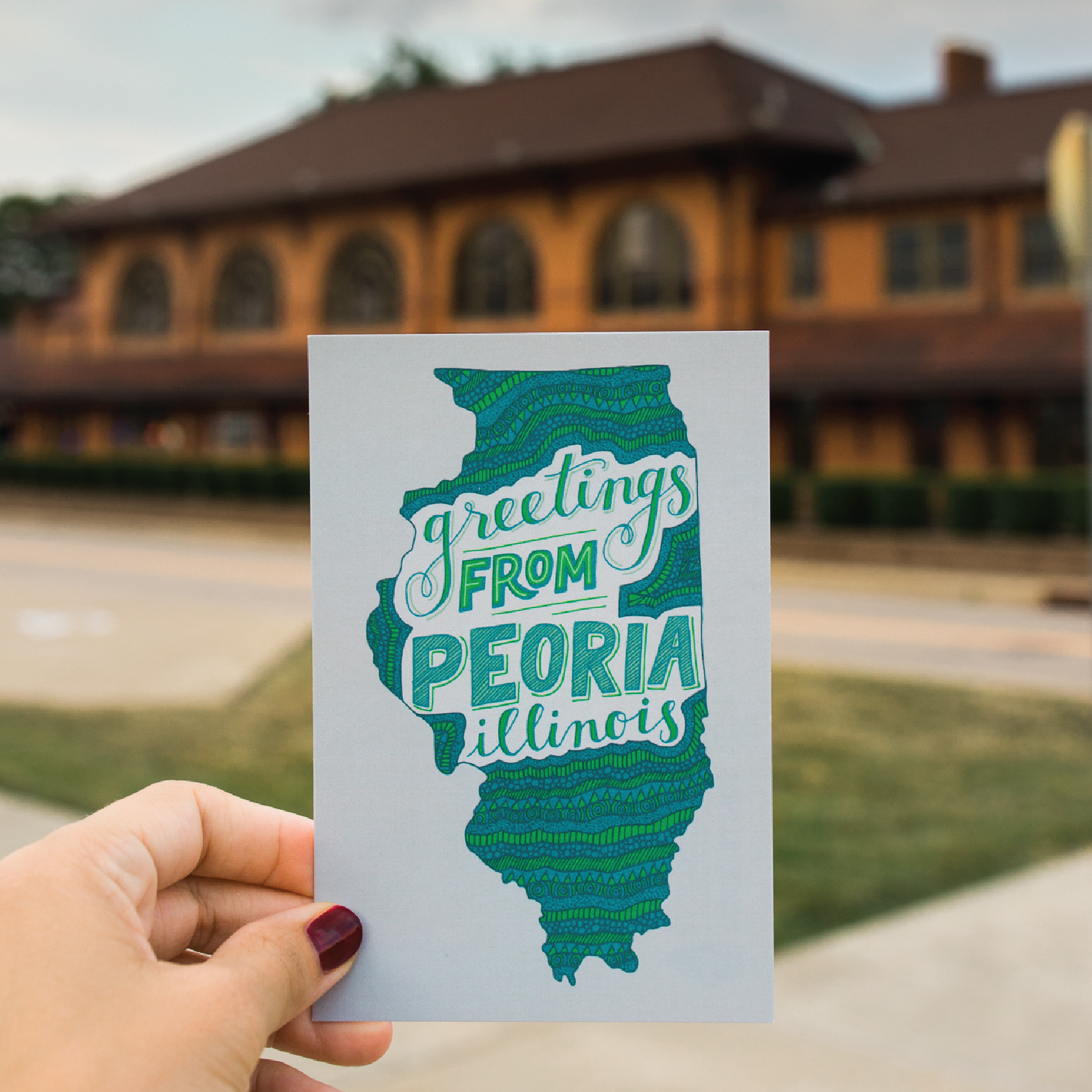 Greetings from Peoria Postcard Design