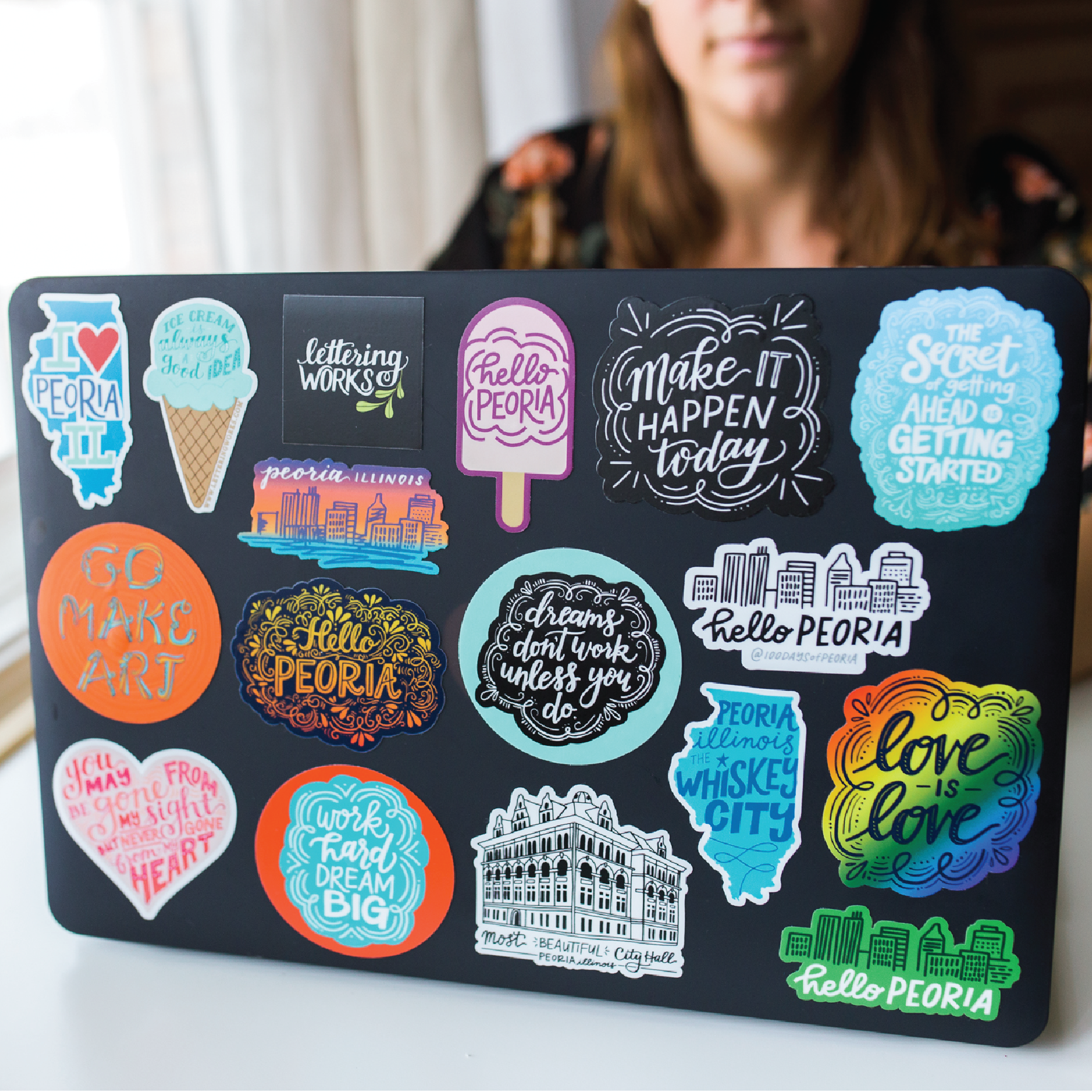 Lettering Works Laptop Stickers