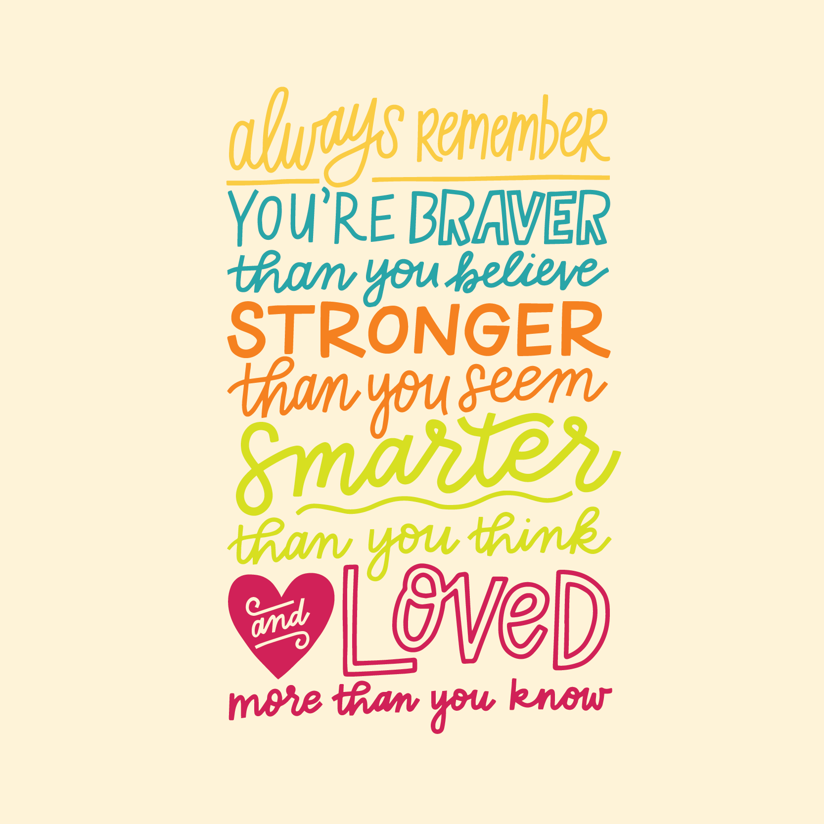 Custom Lettered Quote for Hey Lola