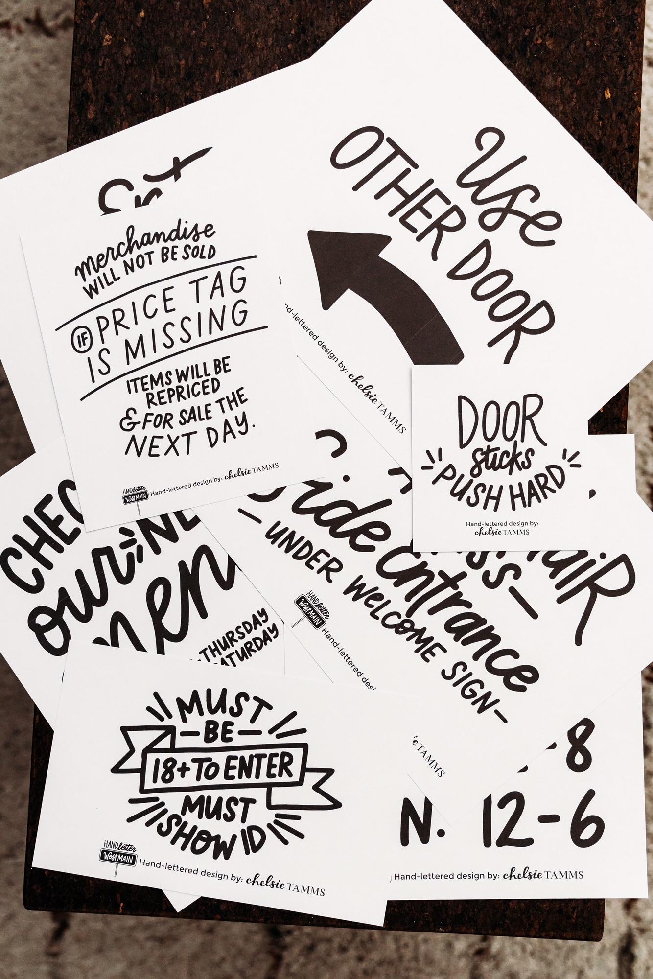 Hand Lettered Signage
