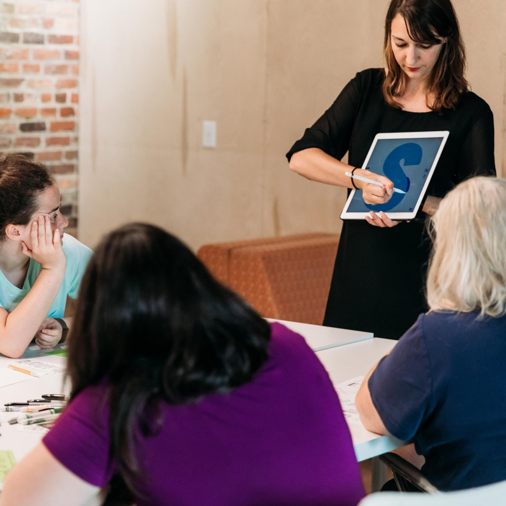 Hand Lettering Workshop with instructor Chelsie Tamms