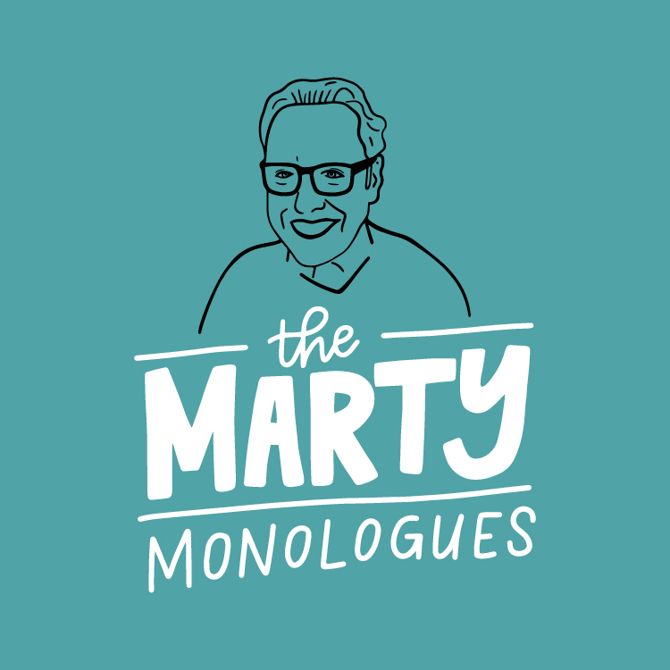 The Marty Monologues Logo Design