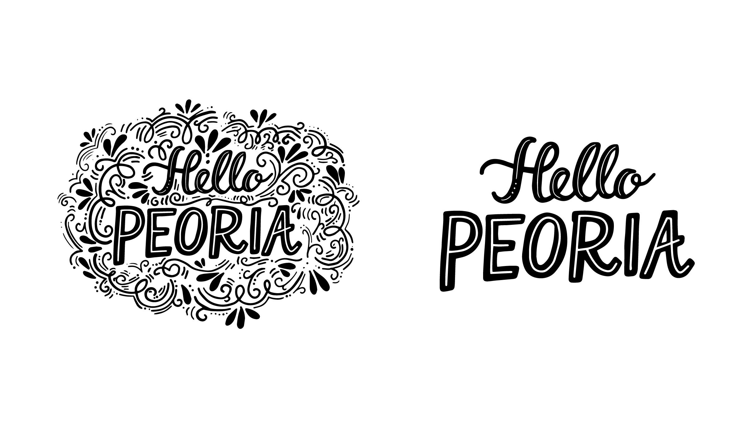 Hello Peoria Logo Design