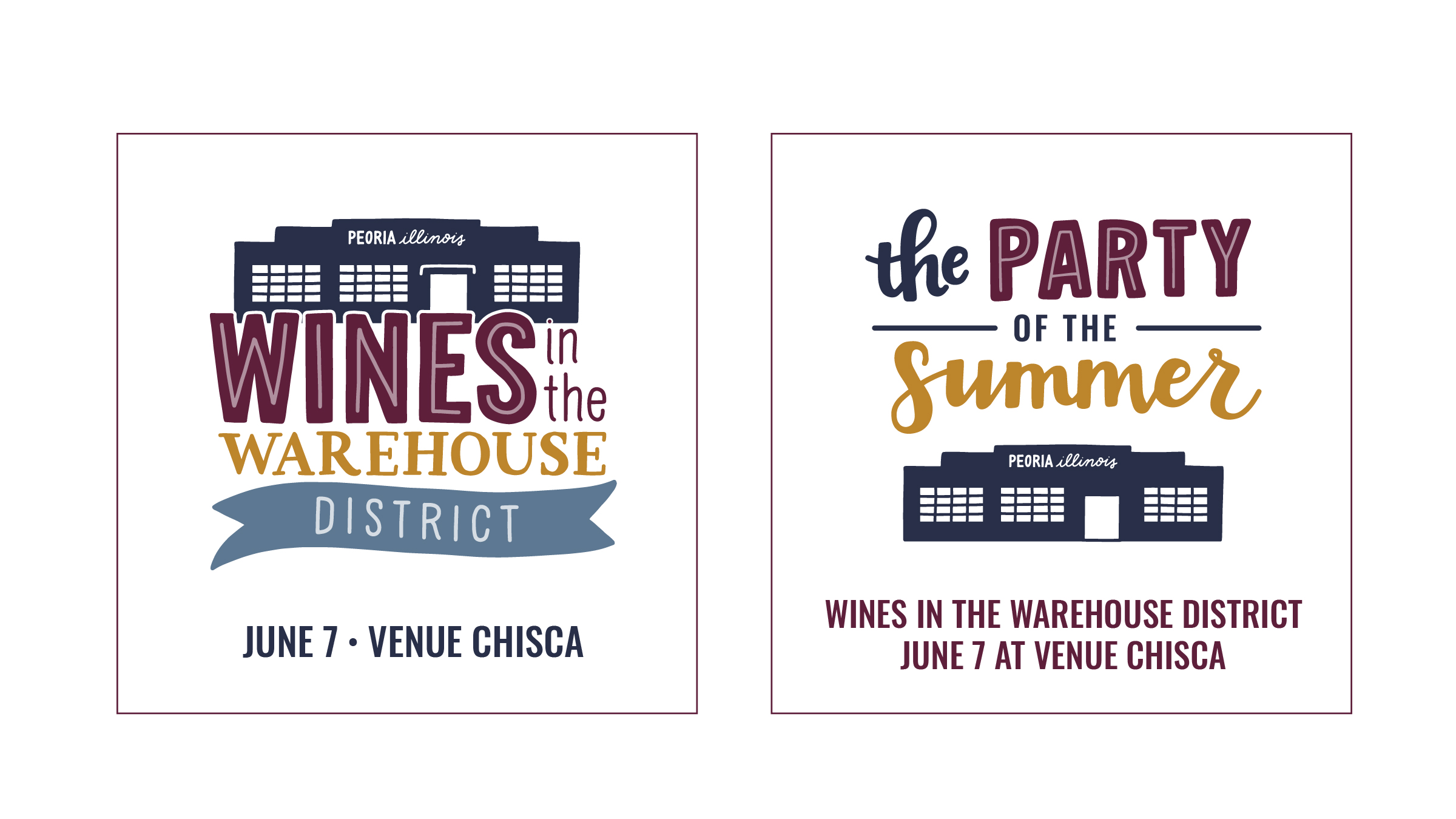 Wines in the Warehouse District Social Graphics