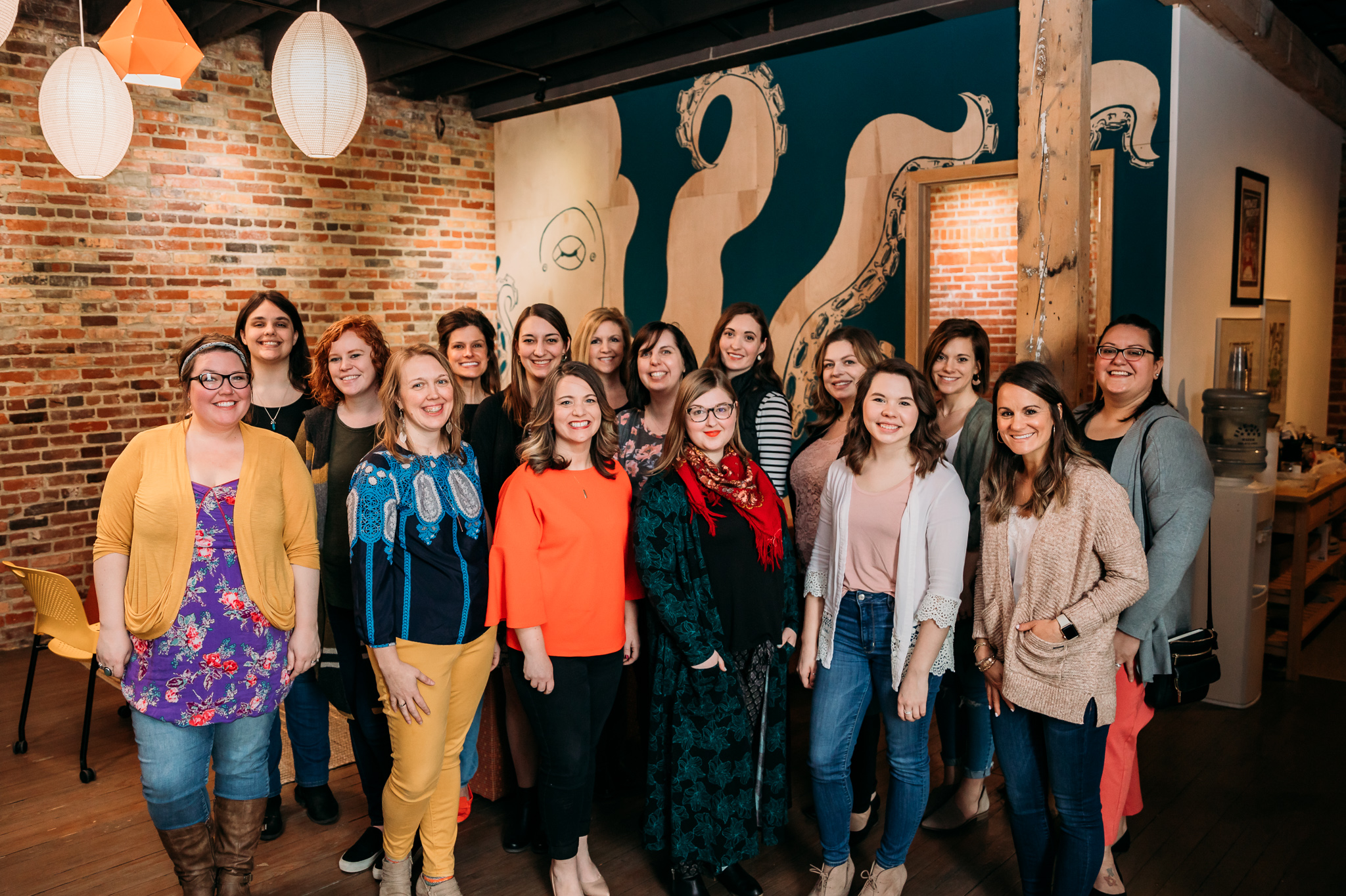 Over 15 women gathered for the Freelancing Females Brunch, representing many unique careers including illustration, photography, therapy, social media marketing, blogging, and design.