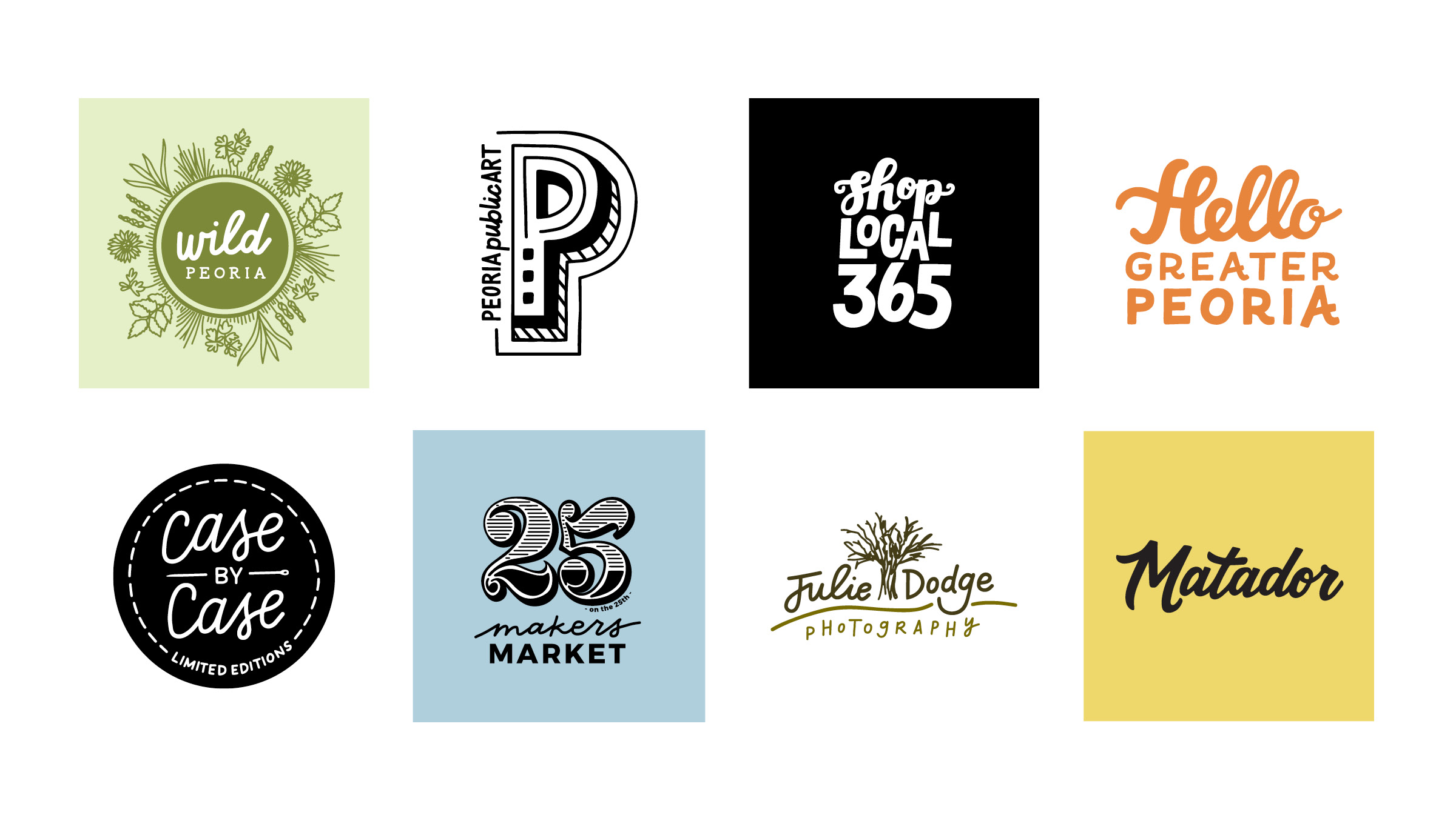 Get behind the people and ideas that you care most about. You'll see a common theme with these selected logos of community projects, local artists/makers/collectives. I'm so passionate about these ideas and want to see them succeed in a way that pushes my work further and fuels my creativity.