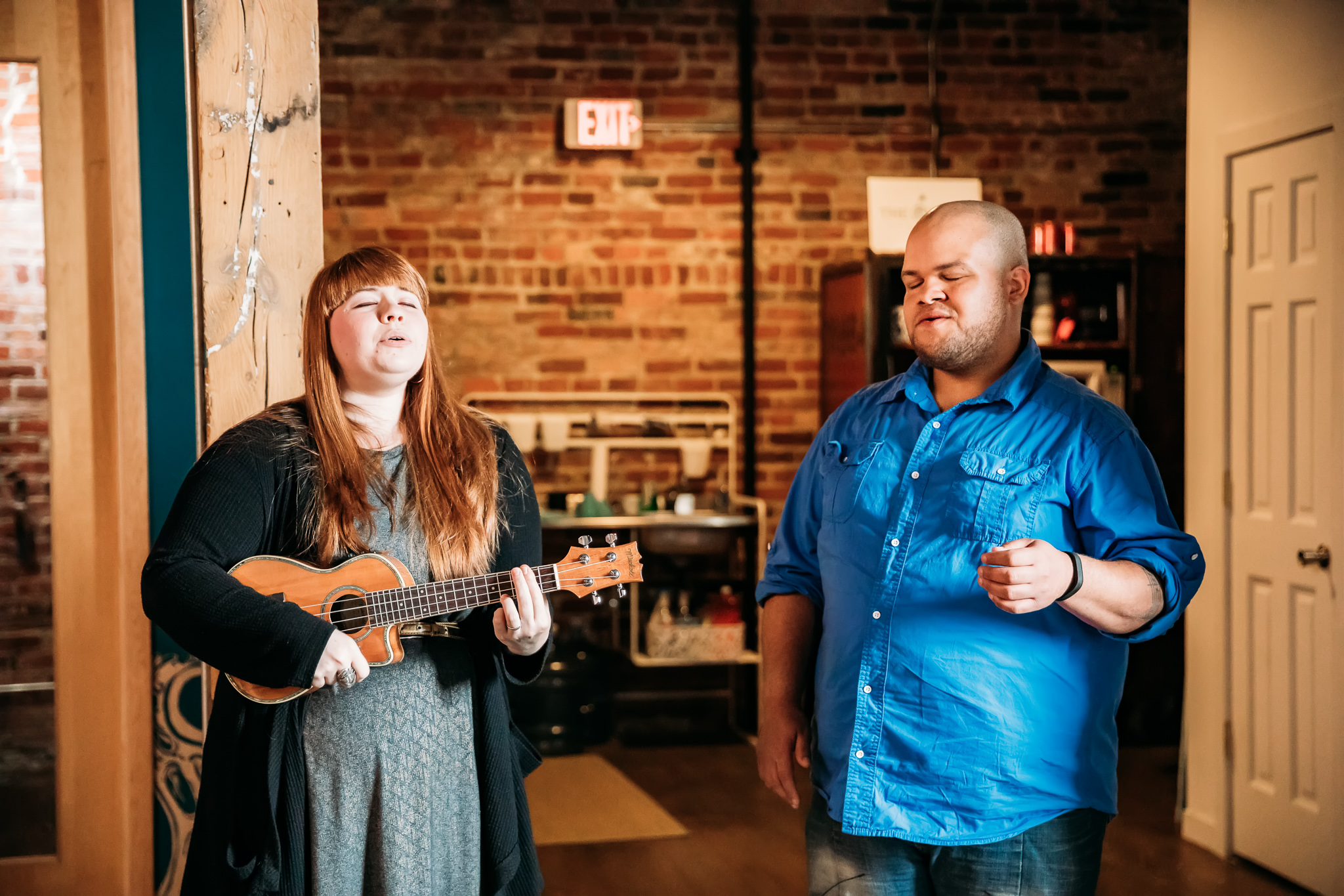 Jessica and Chrys of  Projekts  performed two original songs and won over the hearts of everyone in the room at The Nest Coworking in Peoria's Warehouse District.