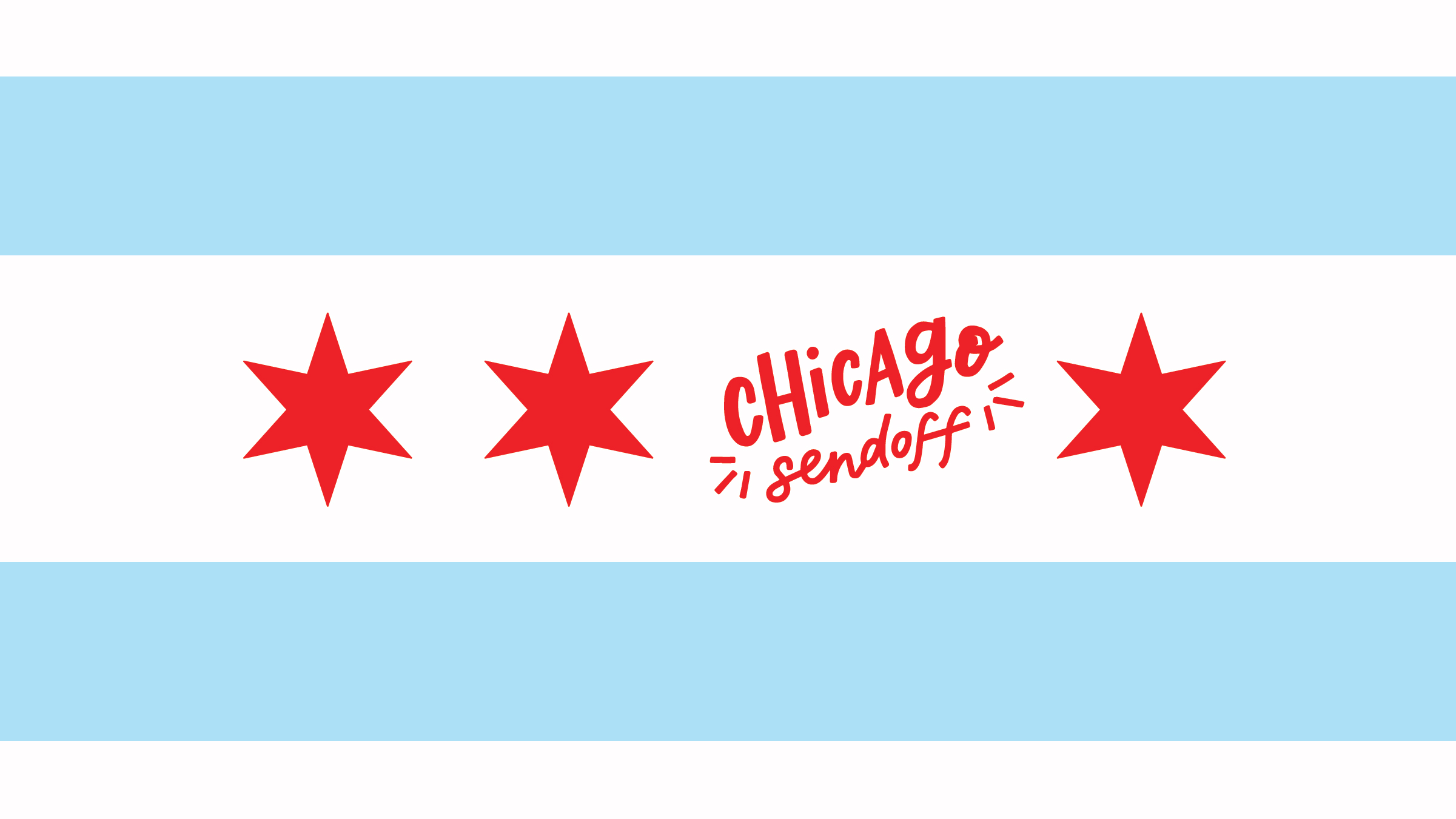 Chicago Sendoff Lettered Graphic