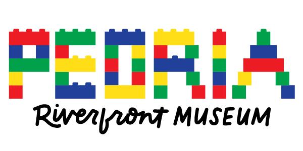 Peoria Riverfront Museum Color Block Lettering Design