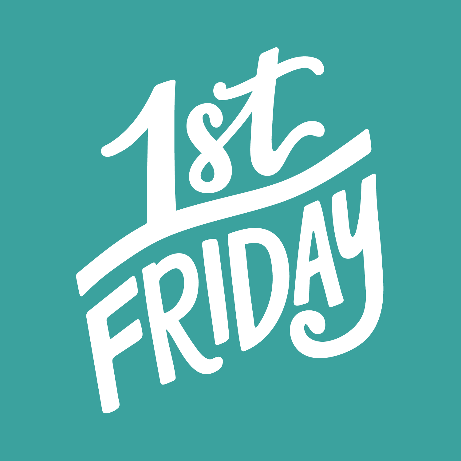 First Friday Logo - by Lettering Works