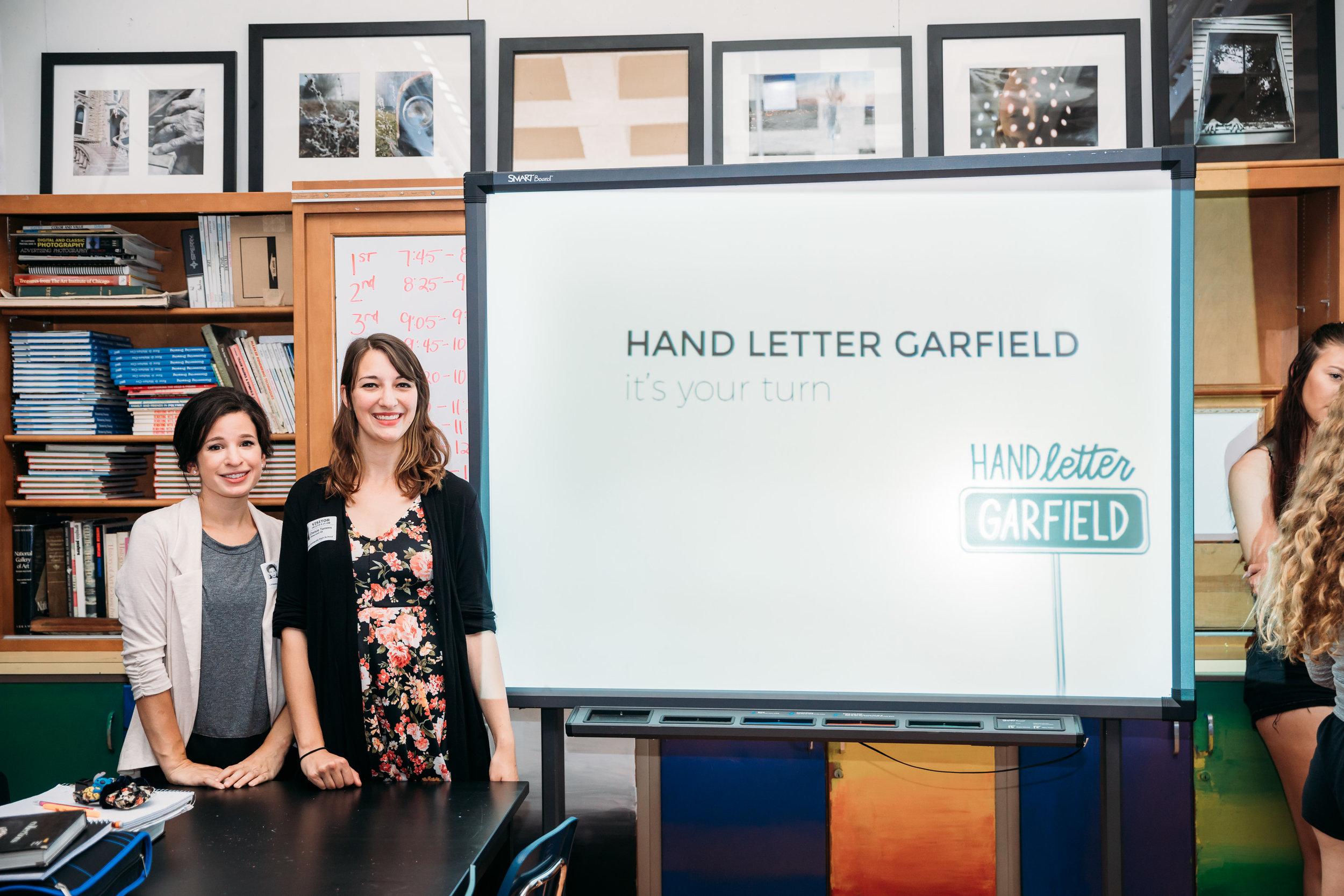 Hand Letter Garfield
