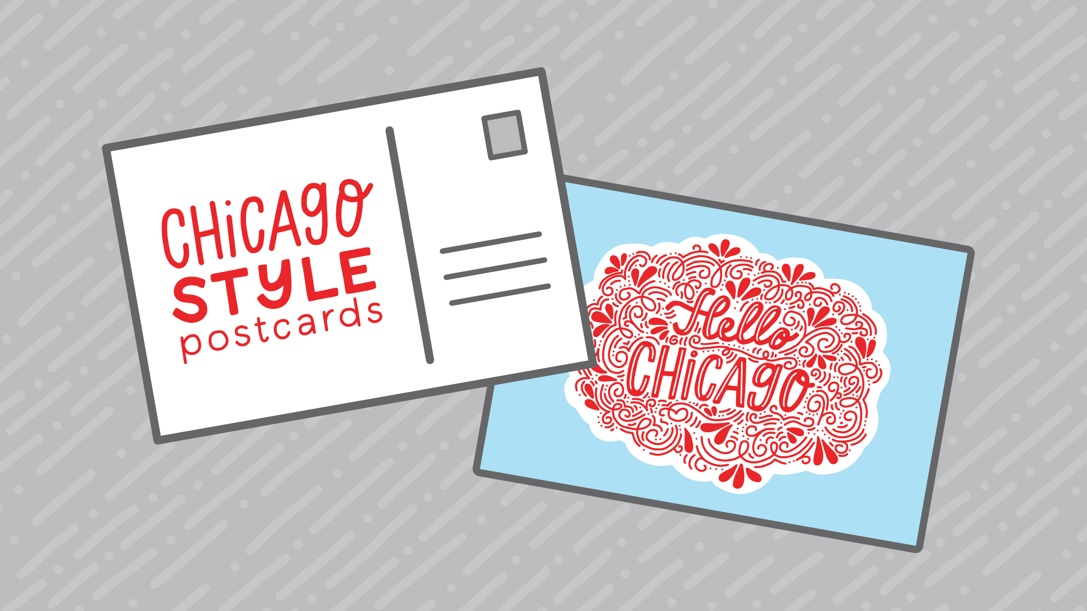 Chicago Style Postcards with Hello Peoria Design