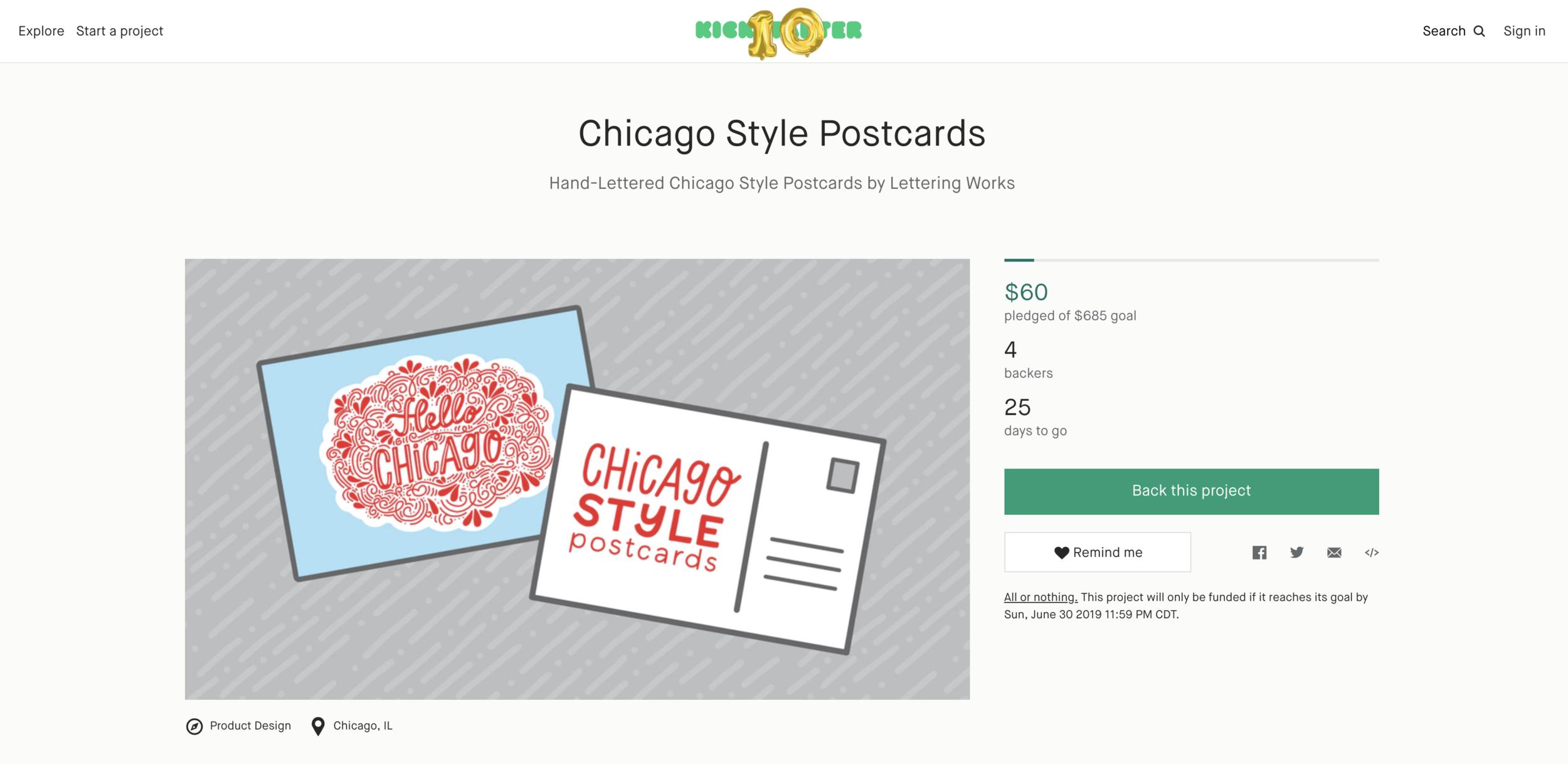 Chicago Style Postcards - Kickstarter