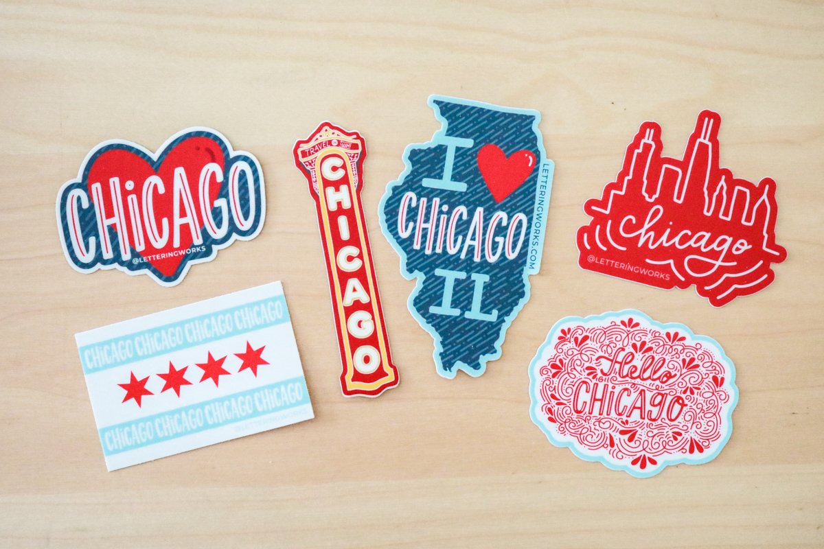 Chicago Sticker Collection by Lettering Works