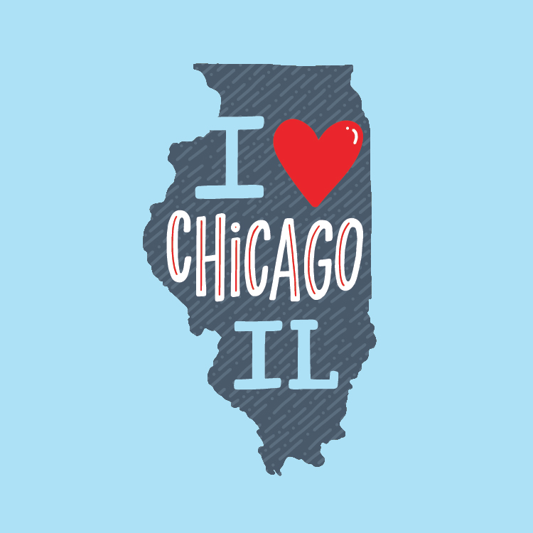 I Heart Chicago IL Design