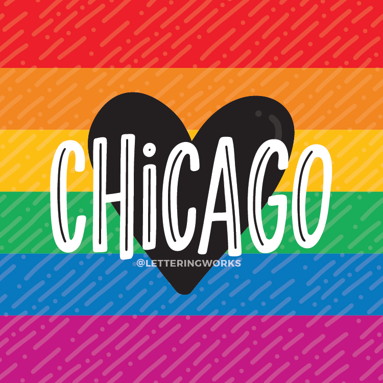 Chicago Heart - Pride Design