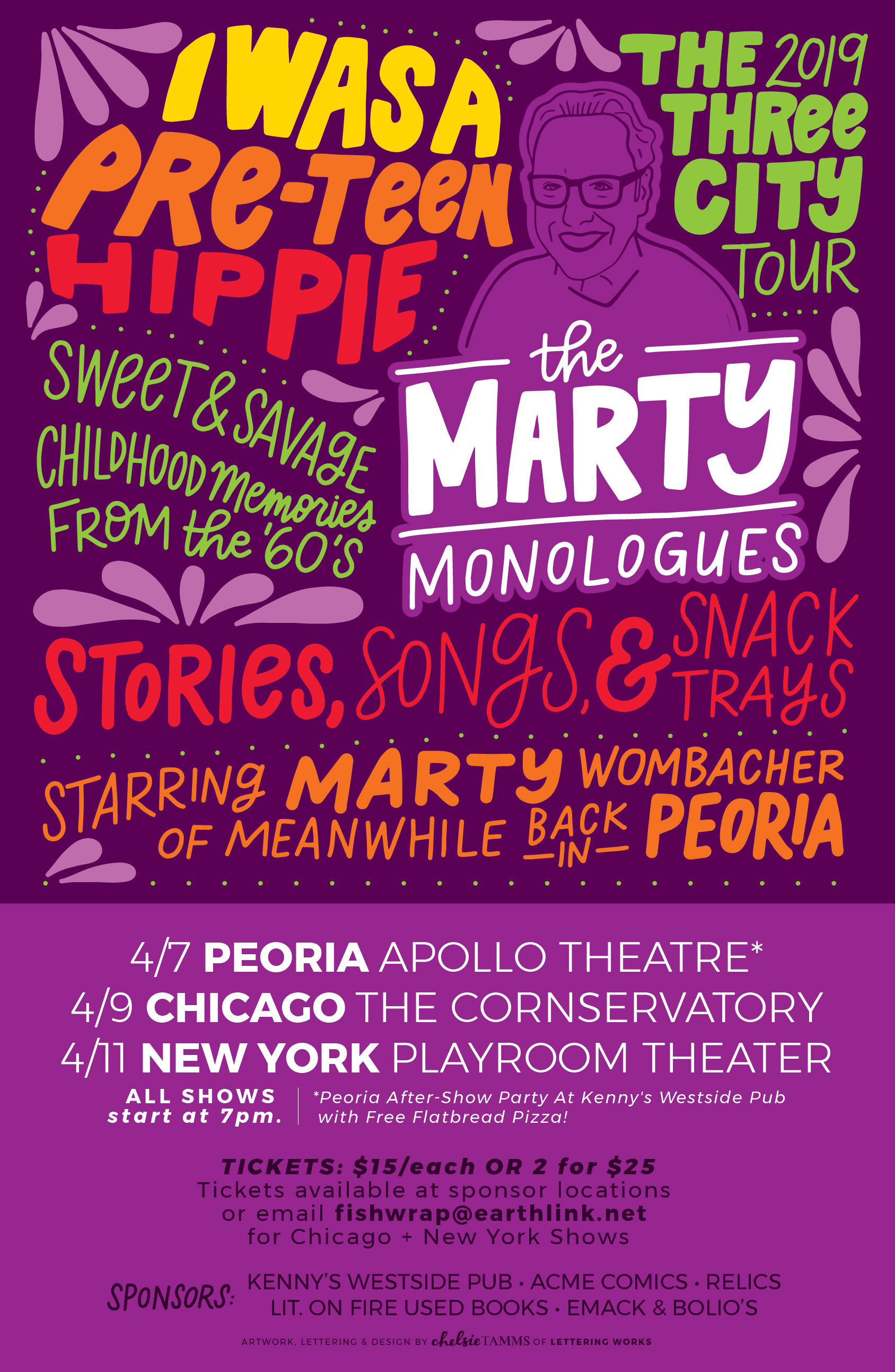 The Marty Monologues - 60s Theme - Poster Design