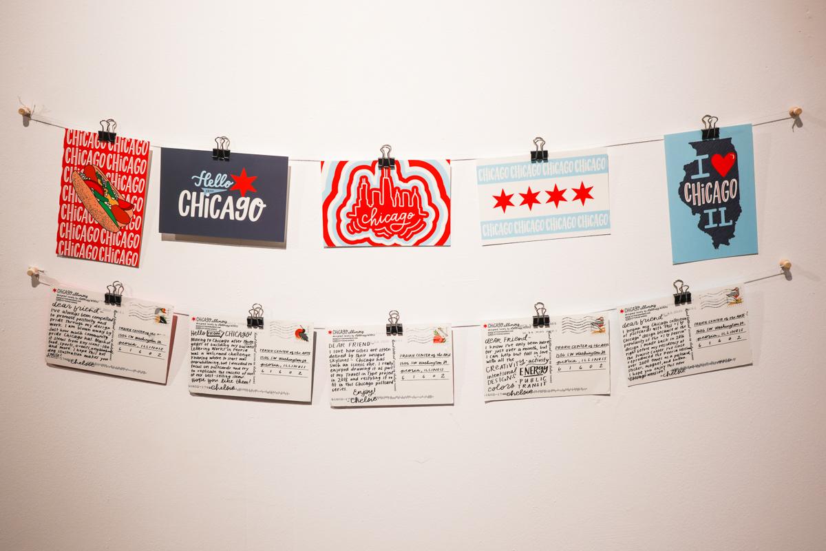 Chicago Style Postcards Installation
