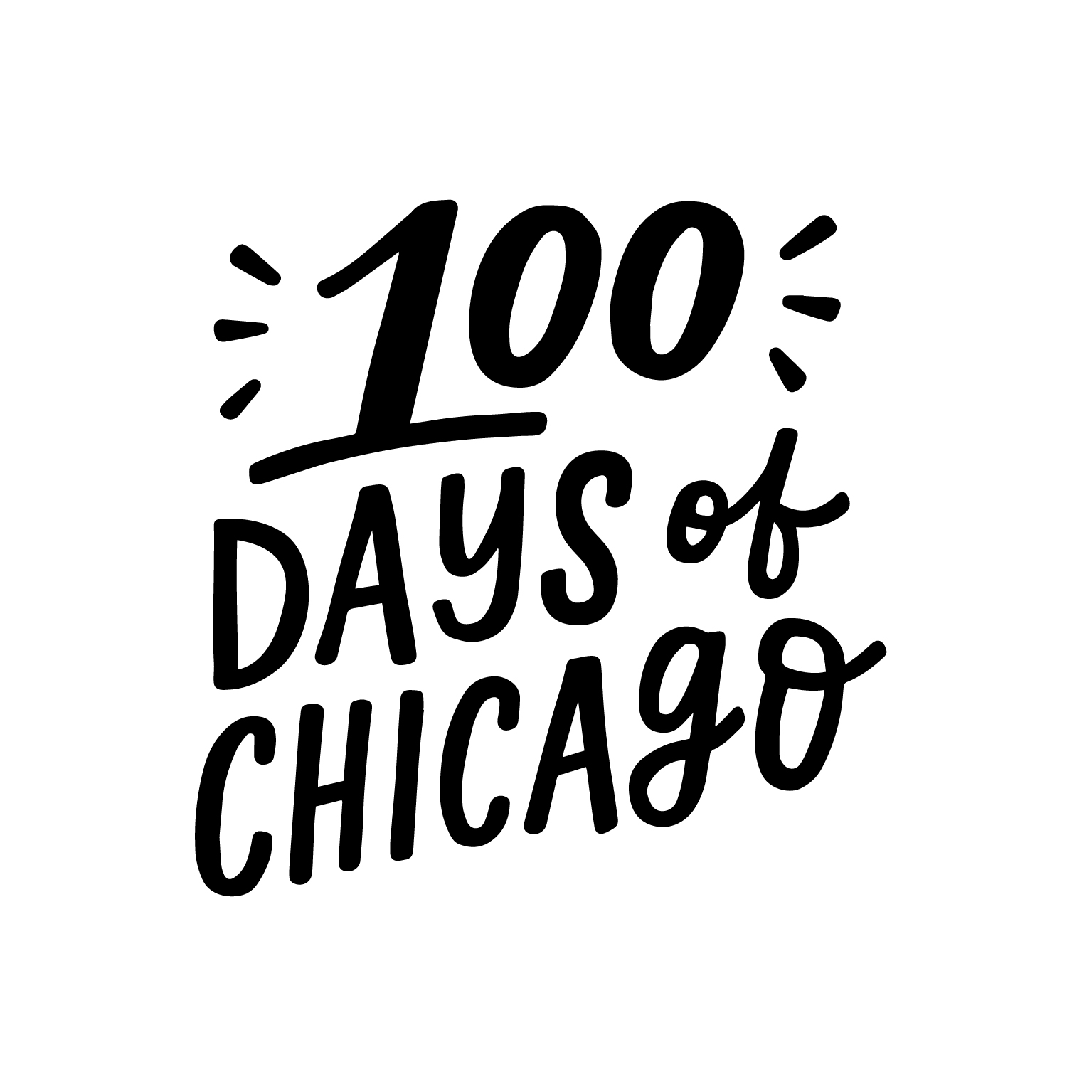 100 Days of Chicago Logo by Lettering Works