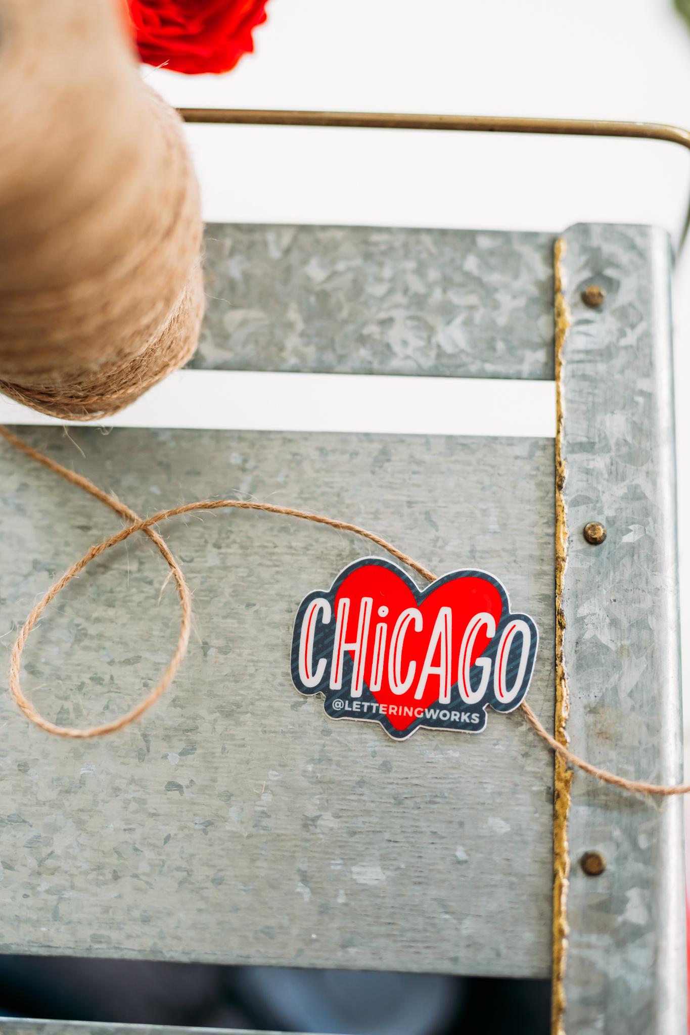 Chicago Heart Sticker - 2'' Mini