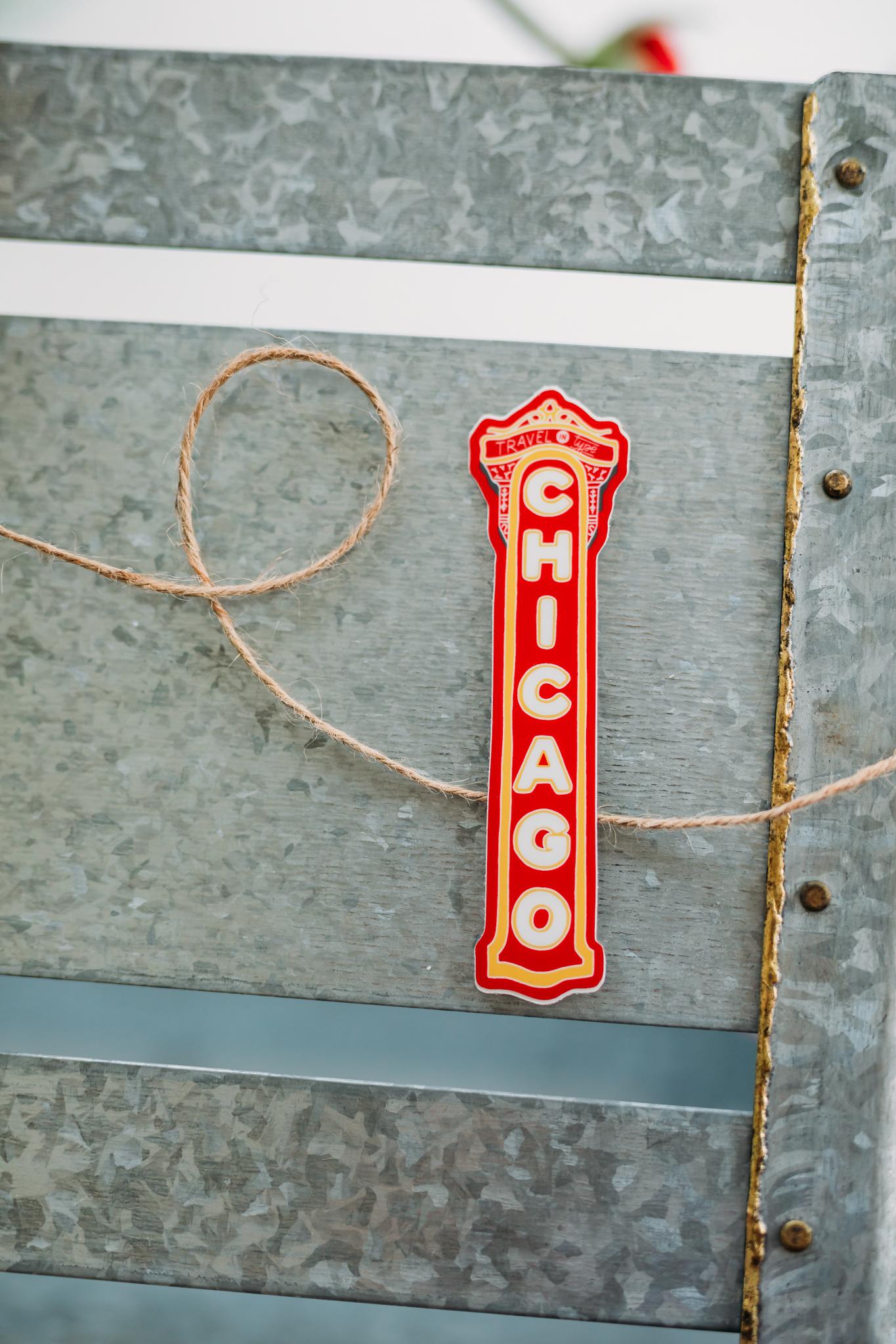 Chicago Theatre Sign Sticker