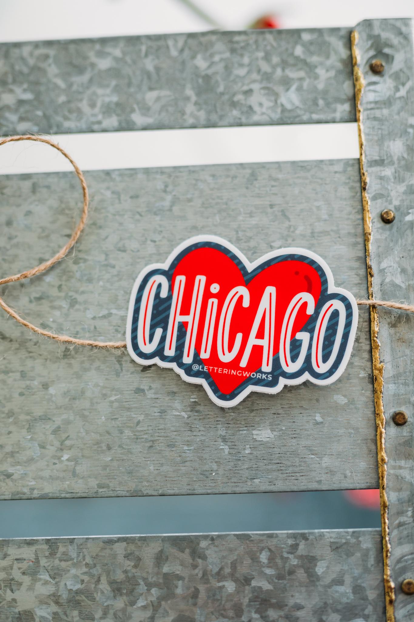 Chicago Heart Sticker