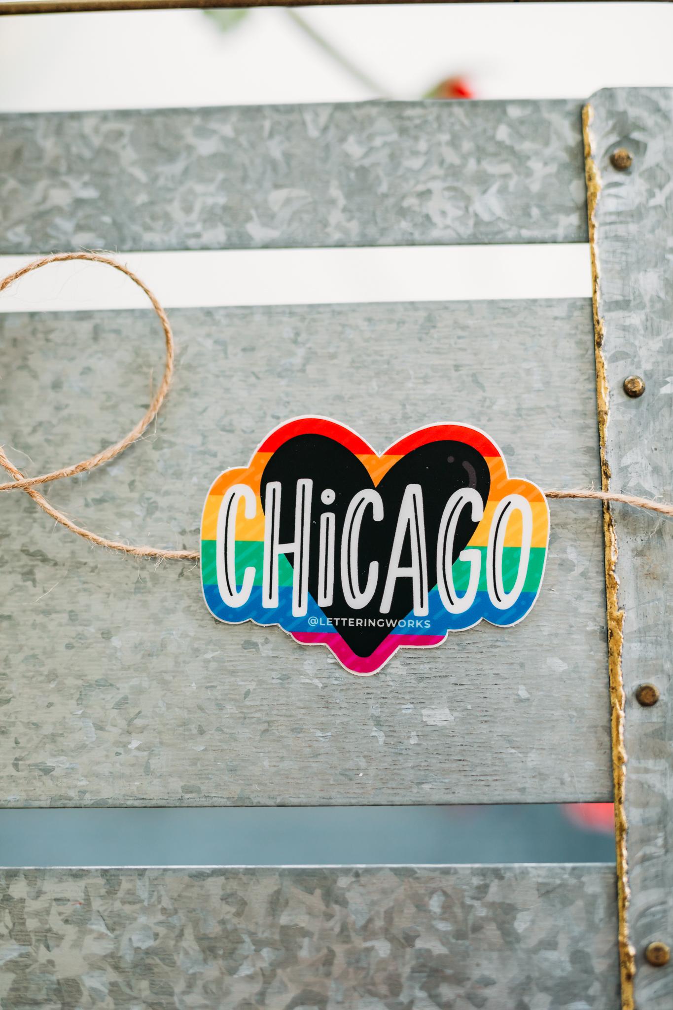 Chicago Pride Heart Sticker