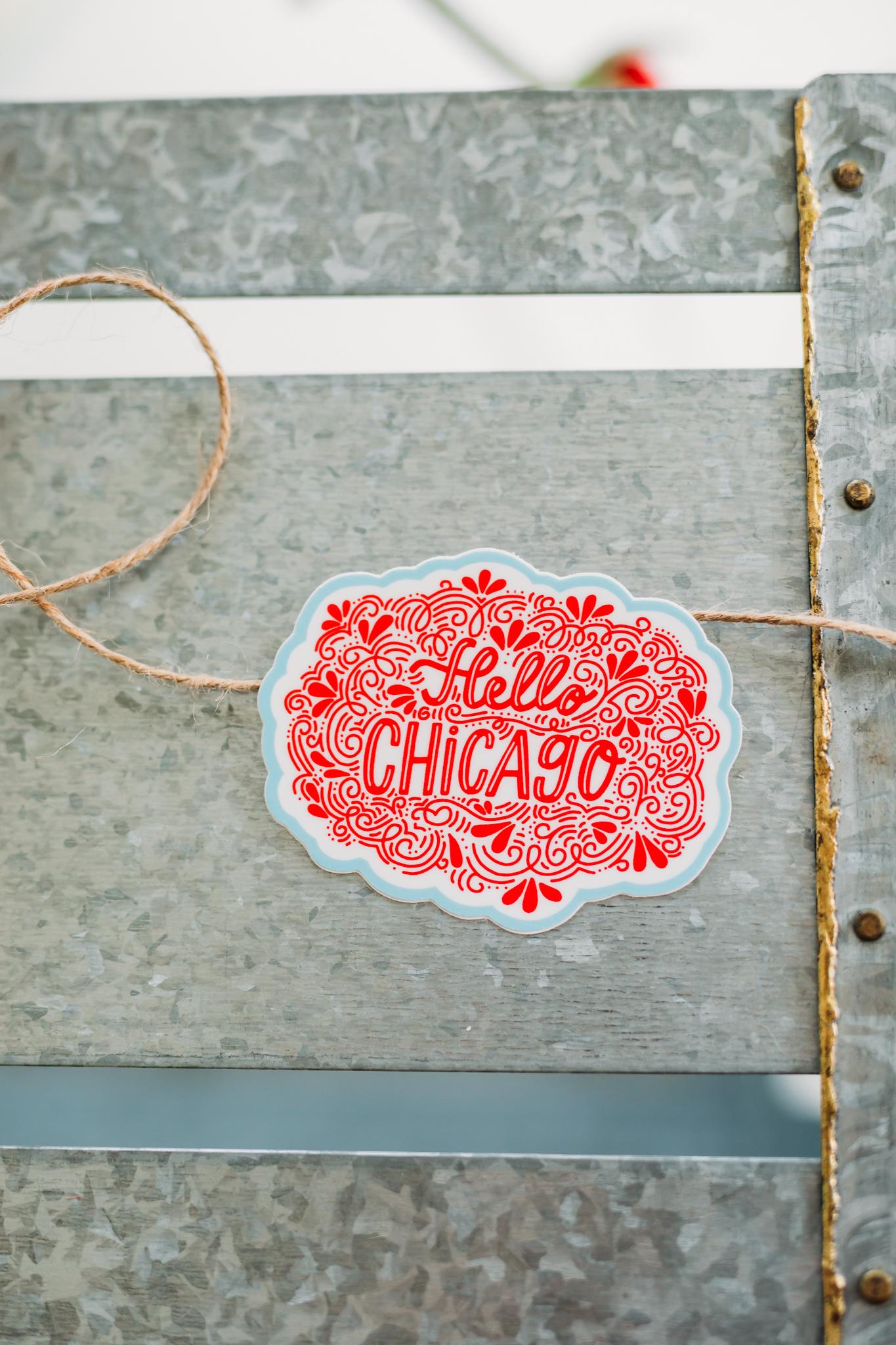 Hello Chicago Sticker