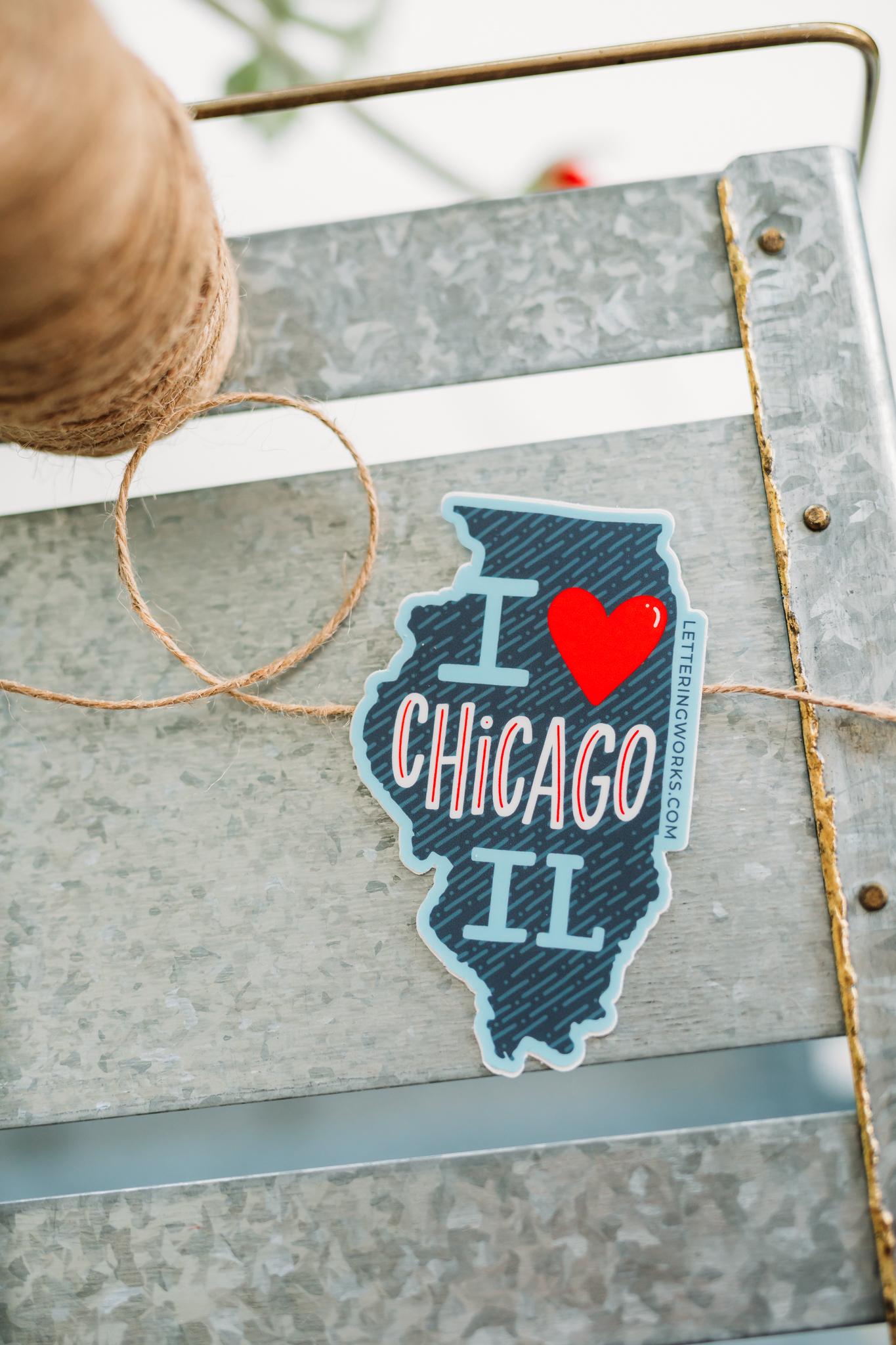 I Heart Chicago IL Sticker