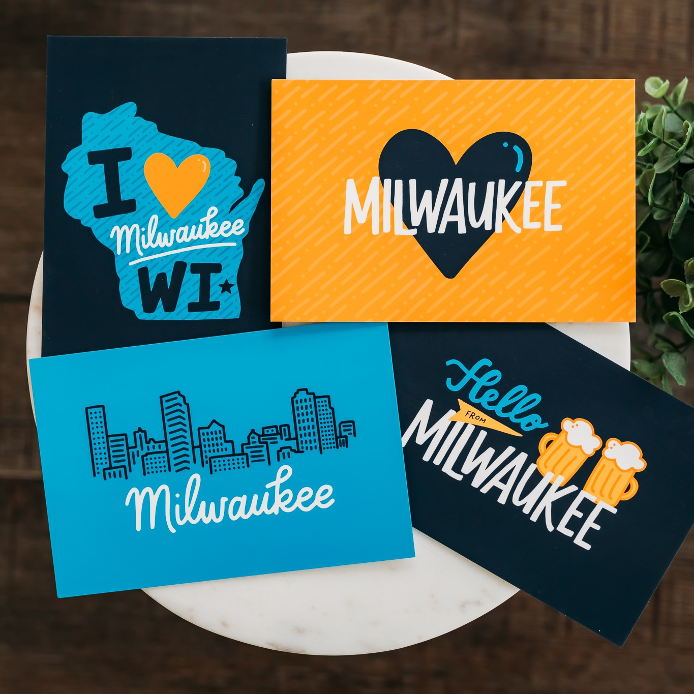 Hand-Lettered Milwaukee Postcard Set