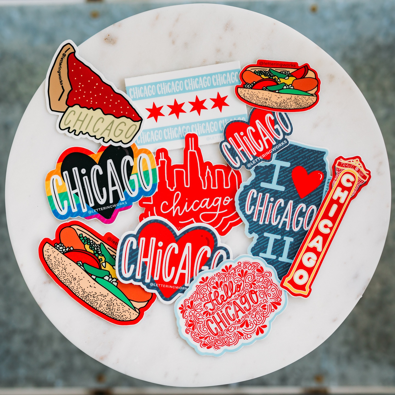 Chicago Stickers | Chicago-Style Stickers
