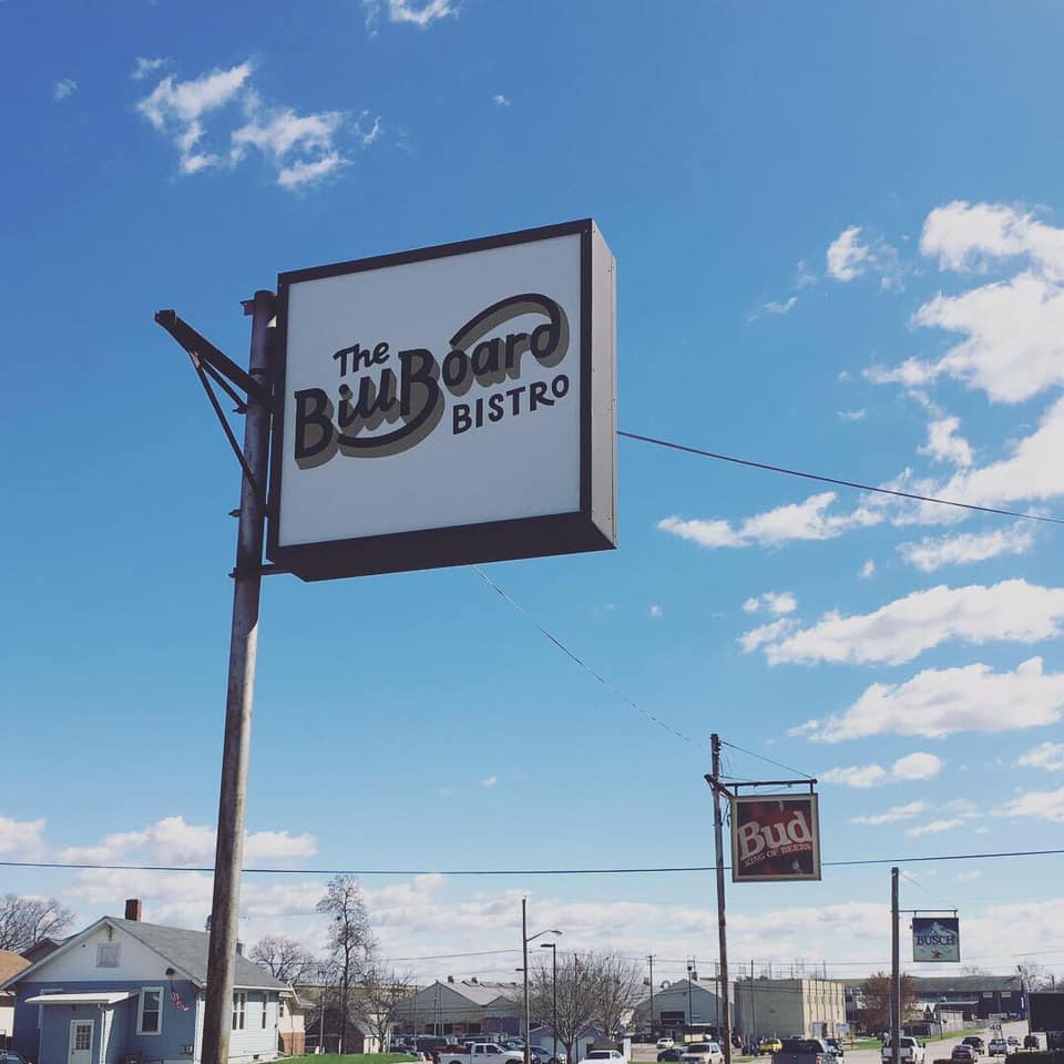 The Billboard Bistro Signage - printed locally by  CJ Signs  in Peoria