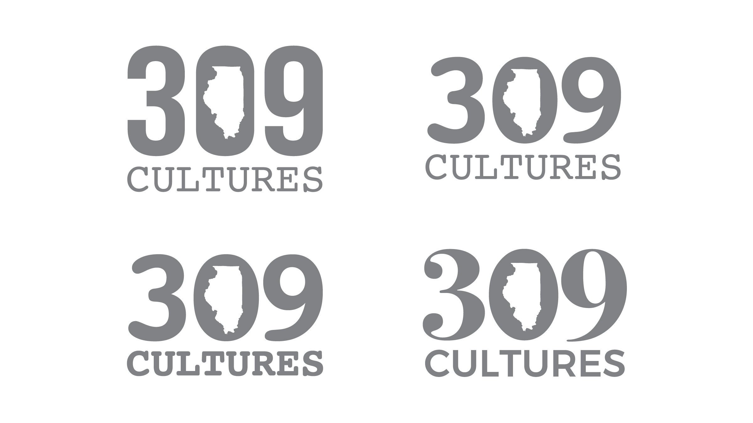 Initial concepts for the 309 Cultures logo