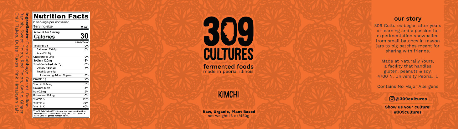 Kimchi Label design