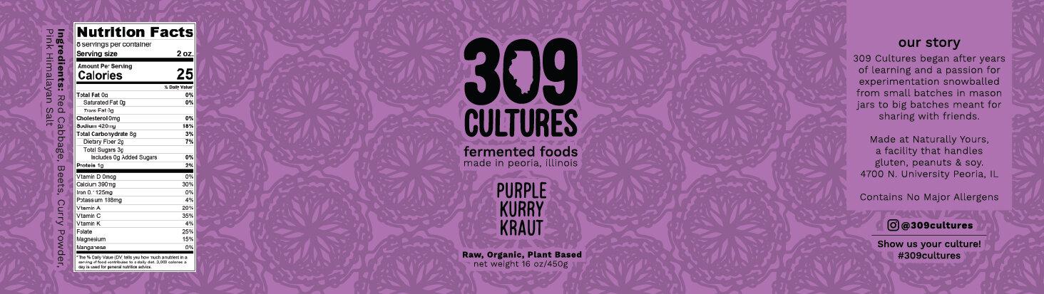 Purple Kurry Kraut Label design