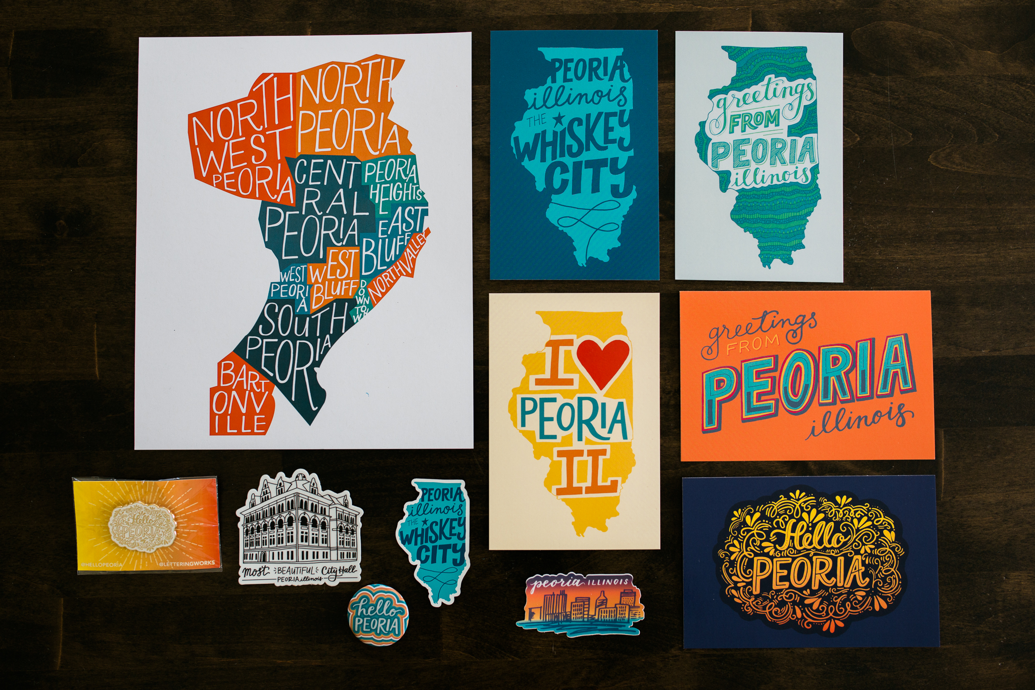Peoria Products by Lettering Works