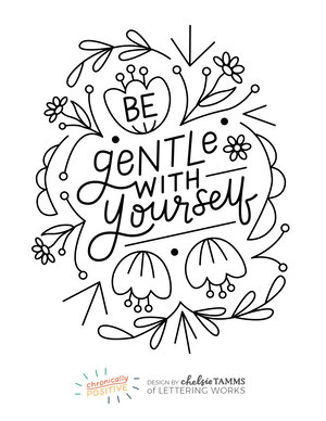 Coloring Pages Chronically Positive Pack Lettering Works